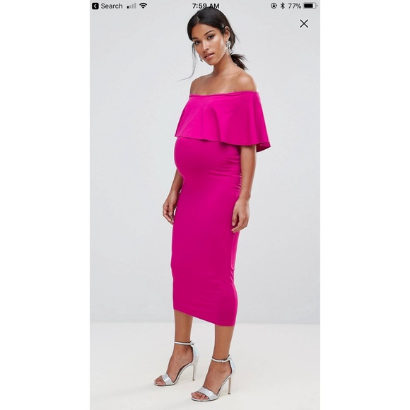 fc0adbf627c ASOS Maternity Dresses   Skirts - NWOT ASOS Maternity Pink Pencil Off  Shoulder Dress